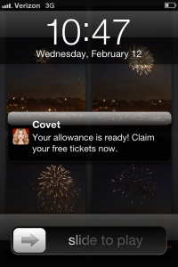 covet allowance notification
