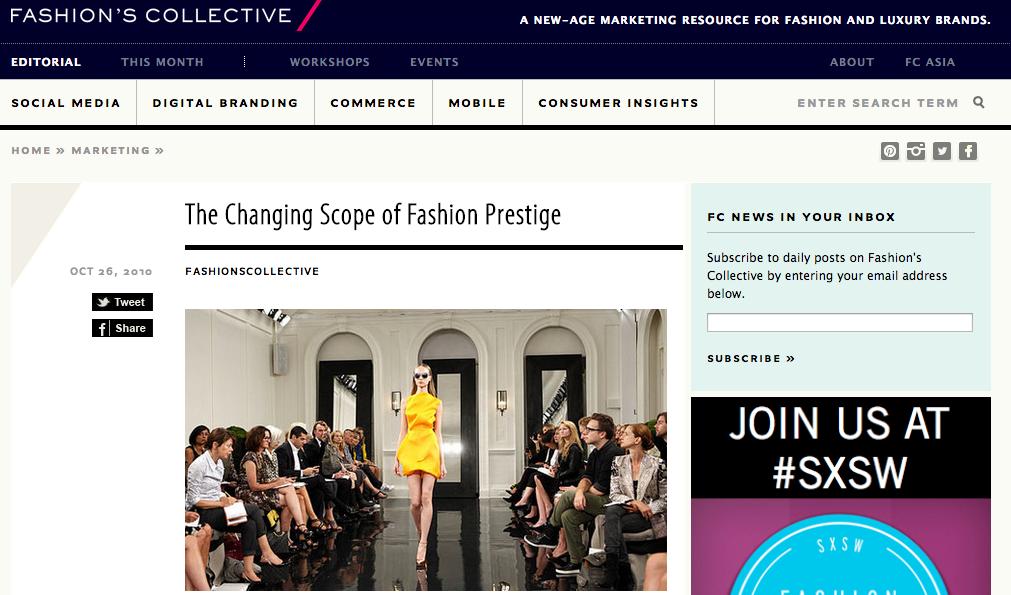 fashion industry editorial
