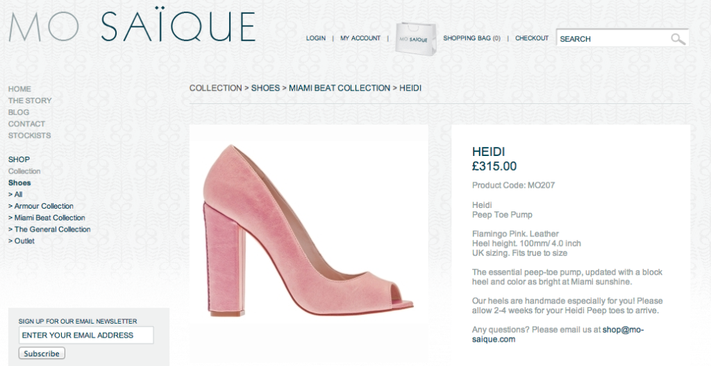 product descriptions fashion ecommerce
