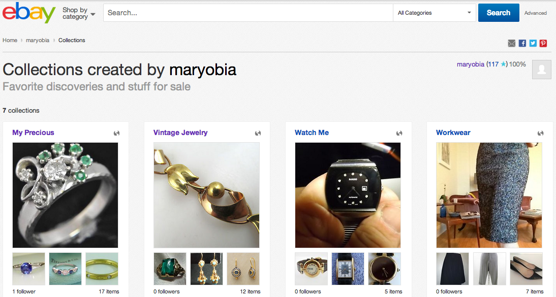 ebay collections as content strategy