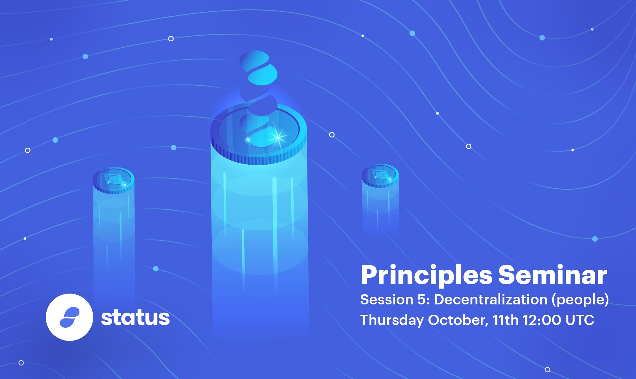 Status.im principles graphic - decentralization of people